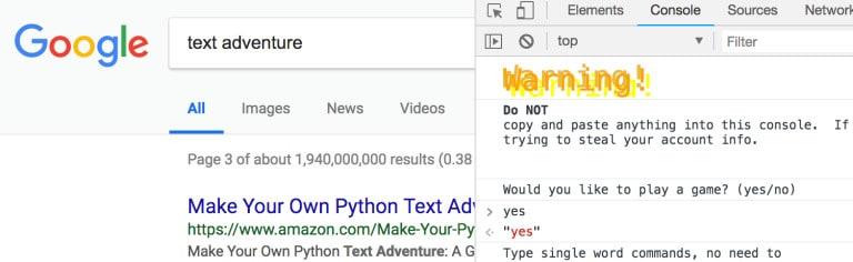 google-hidden-text-adventure-game