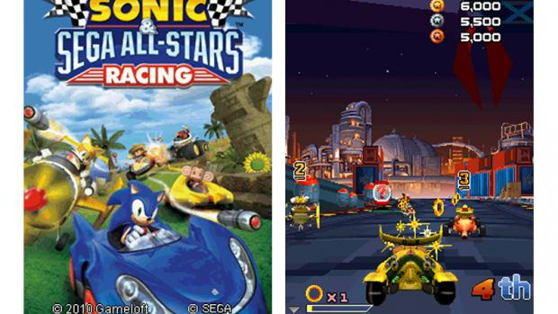 Gameloft has launched Sonic & Sega All Stars Racing for Java