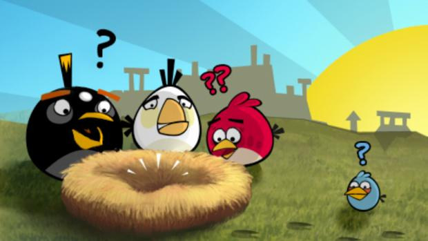 The popular bird-slinger, Angry Birds, can be yours from the