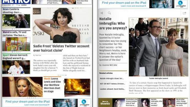 Metro Online iPad app review