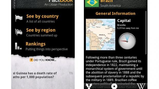Fact Book for Android review