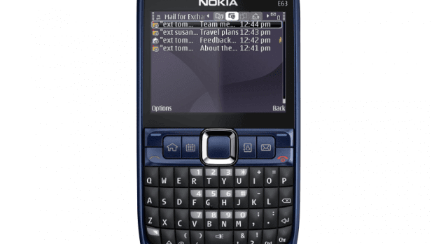 The Nokia E63 is geared up for a top quality email