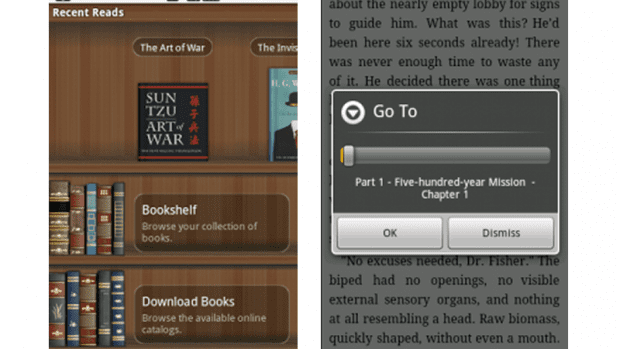 We review Aldiko Book Reader, an eBook reader for Google Android
