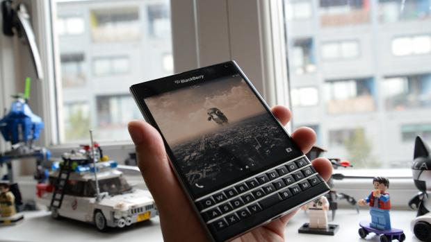 The BlackBerry 10 3 update on the BlackBerry Passport is