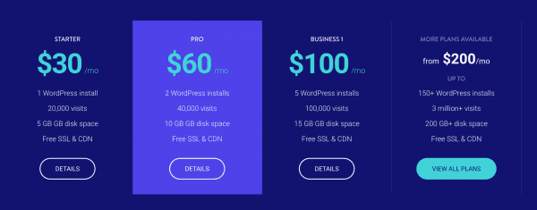 Kinsta Prices