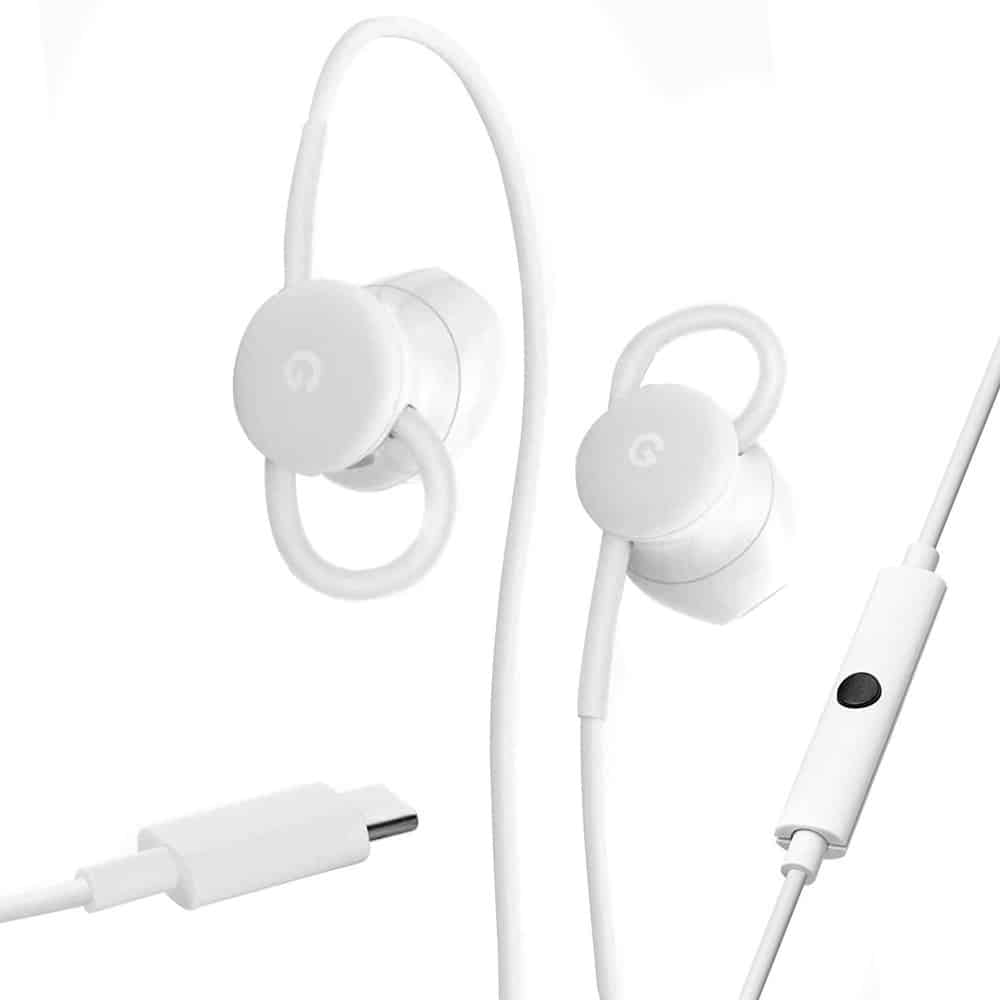Google USB Type C Wired Digital Earbud Headset with Google Assistant