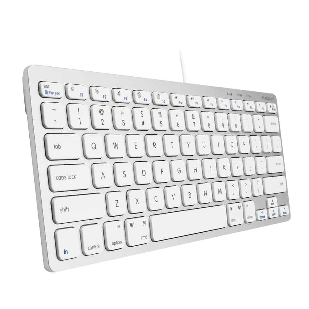 Macally USB Wired Compact Keyboard - Small & Slim