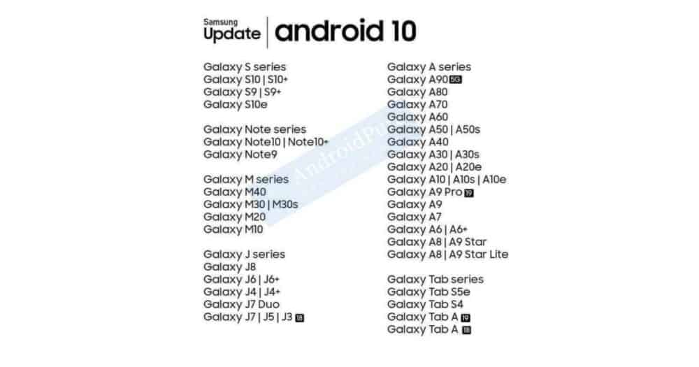 Samsung-android-10-update