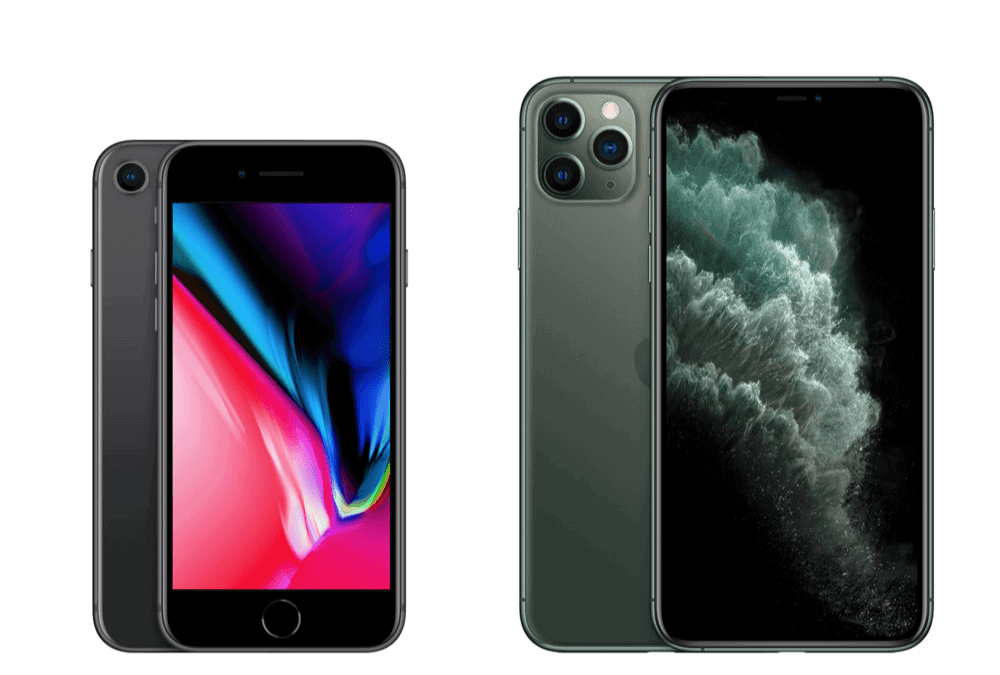 iPhone 11 Pro Max vs iPhone 8–Apple's iPhone Face Off!