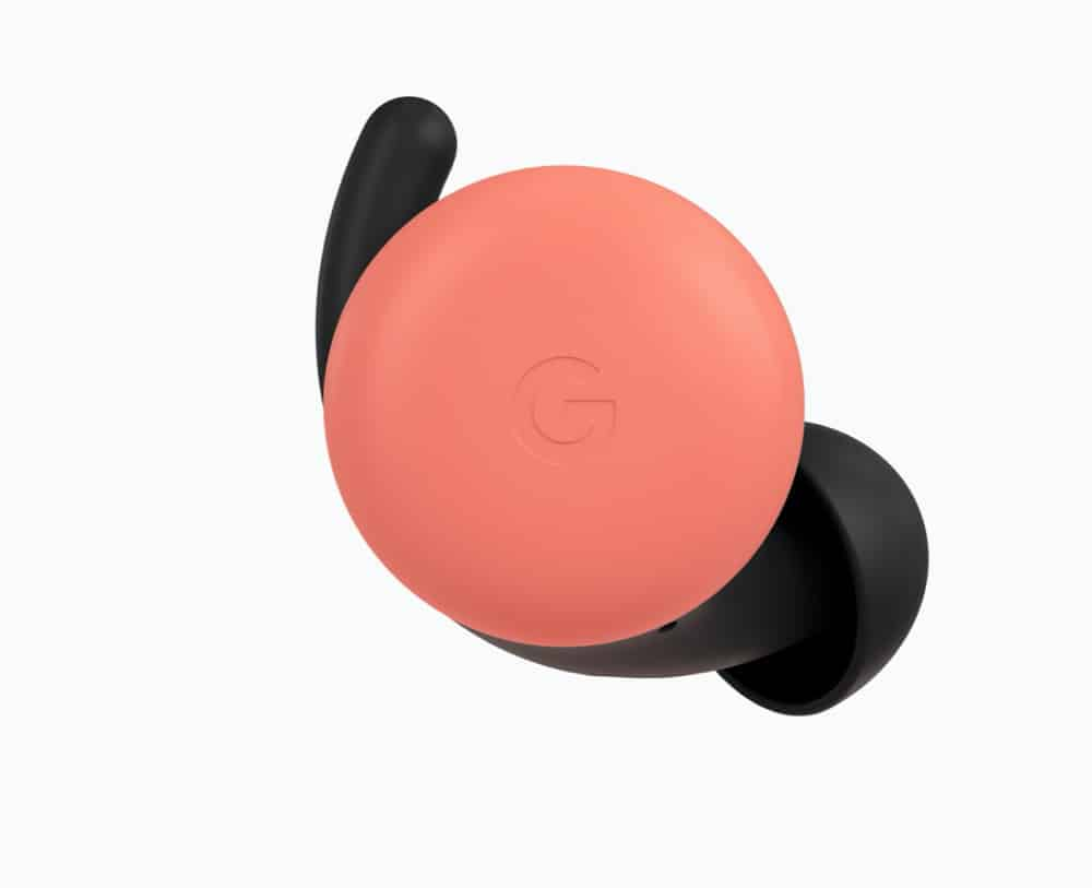 Google's Pixel Buds pink