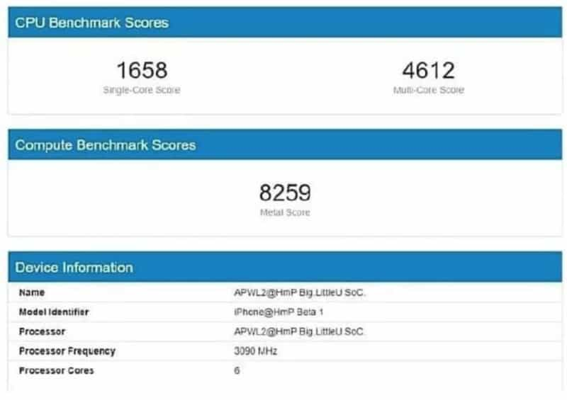 A14 benchmarks