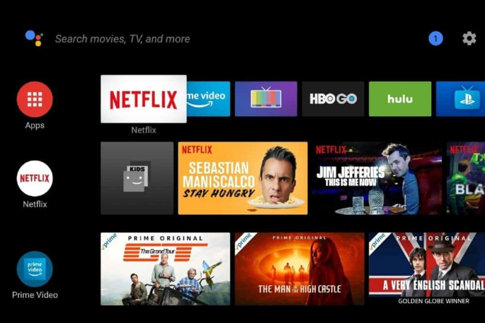 Android TV Menu System and Settings