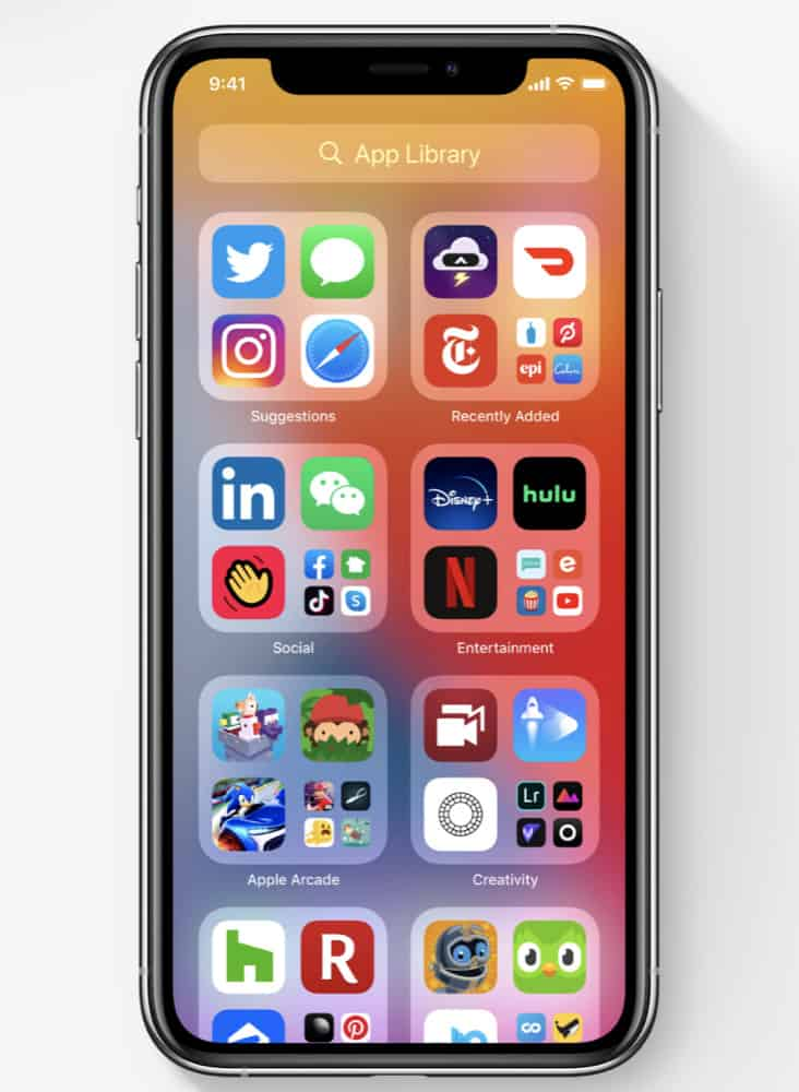 how to use App Library In iOS 14