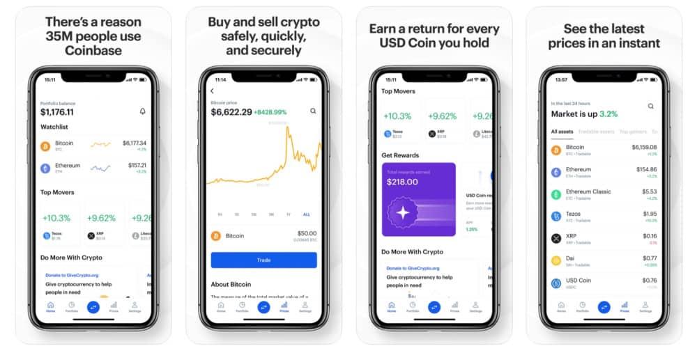 Coinbase iPhone app