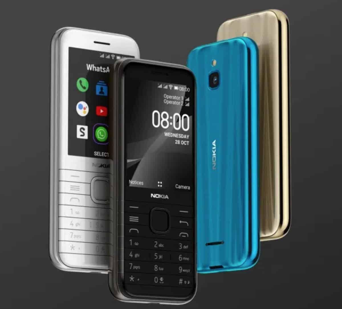 Nokia 6300 4G vs. Nokia 8000 4G