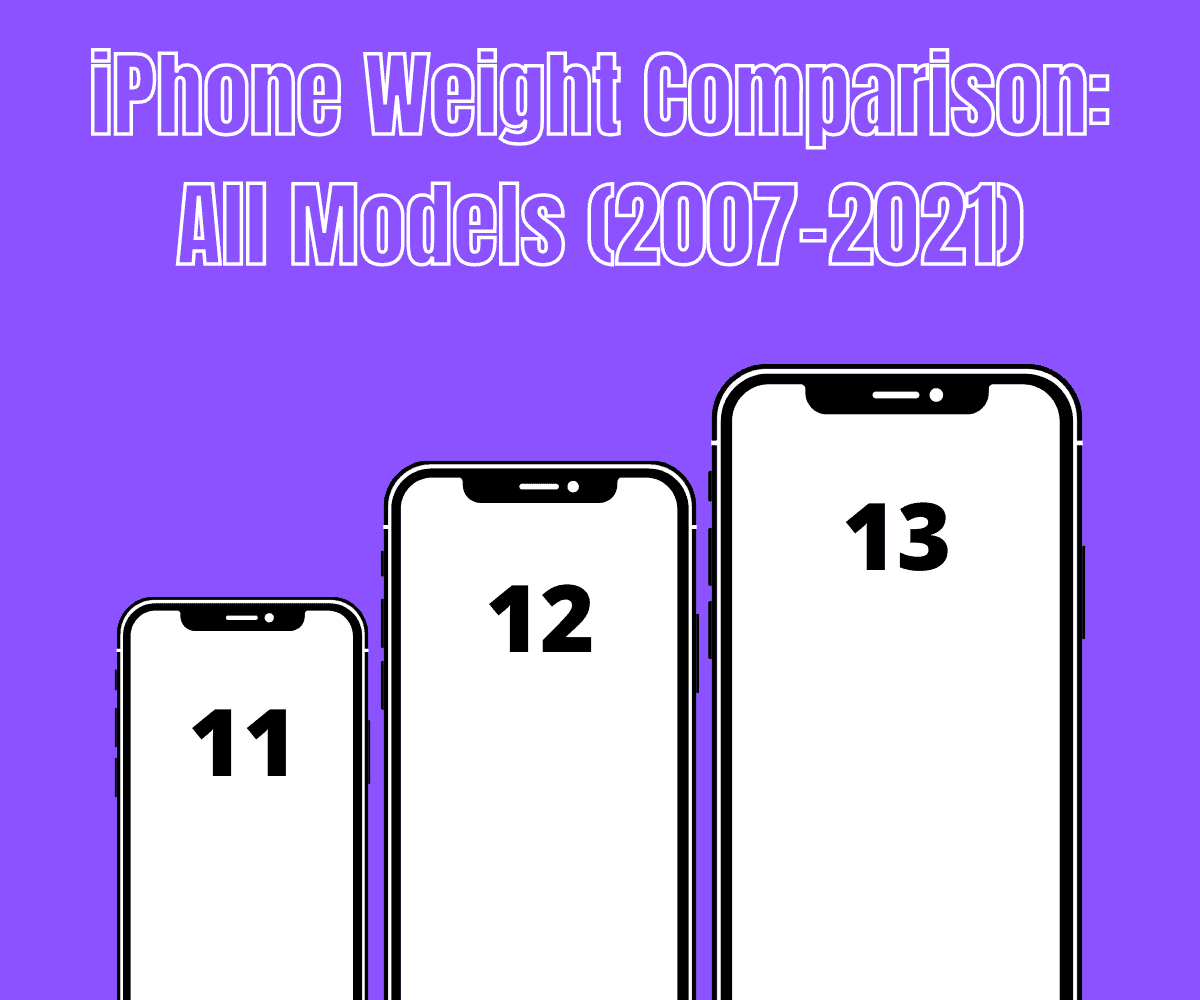 iPhone Weight Comparison