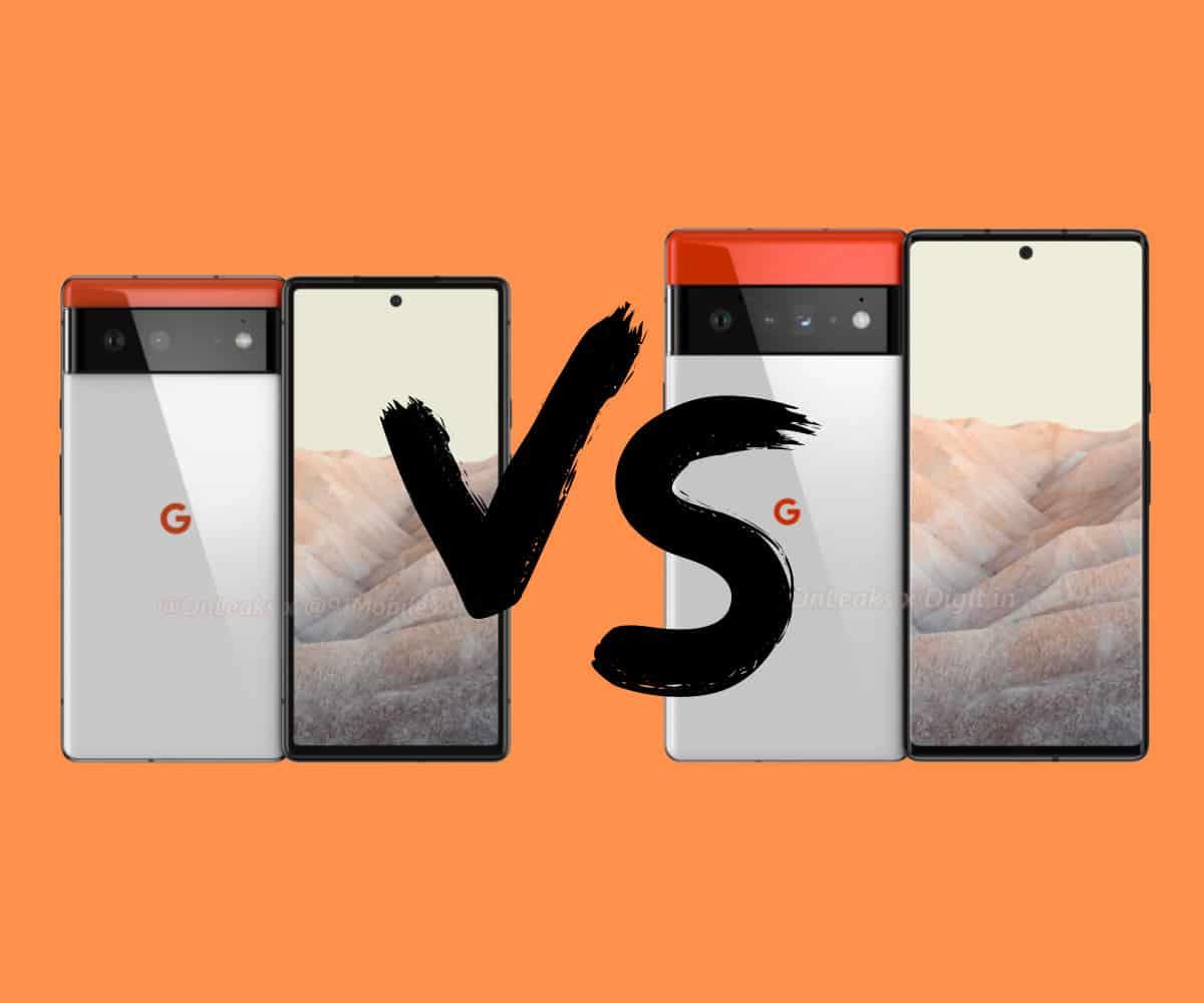 Pixel 6 vs Pixel 6 Pro